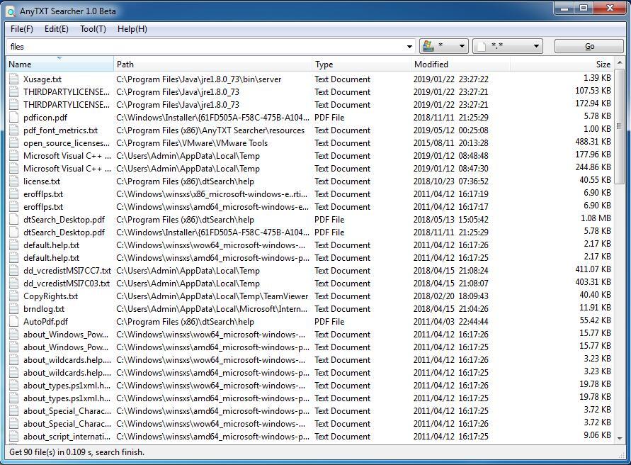 AnyTXT Searcher full screenshot